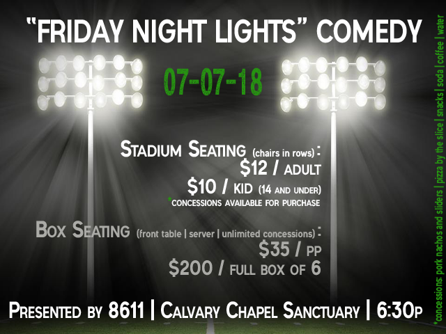 """Friday Night Lights"" Comedy Night"