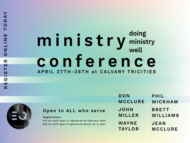 """Doing Ministry Well"" Ministry Conference"