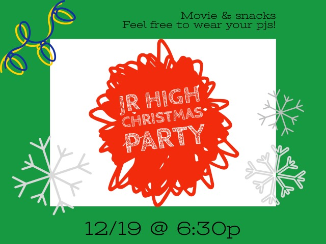Jr. High Christmas Party