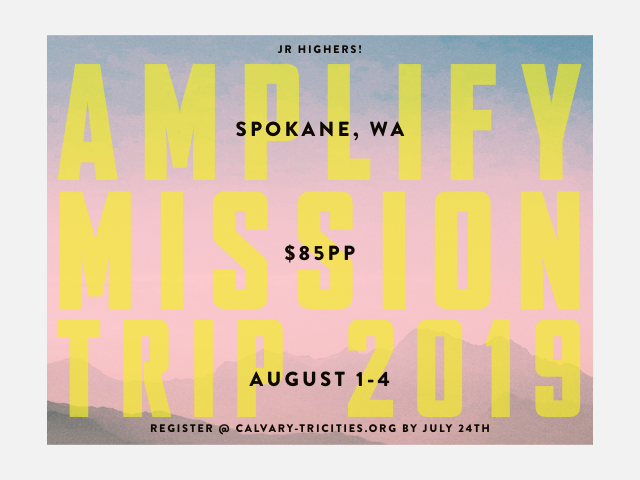 Jr. High's Amplify Spokane Mission Trip