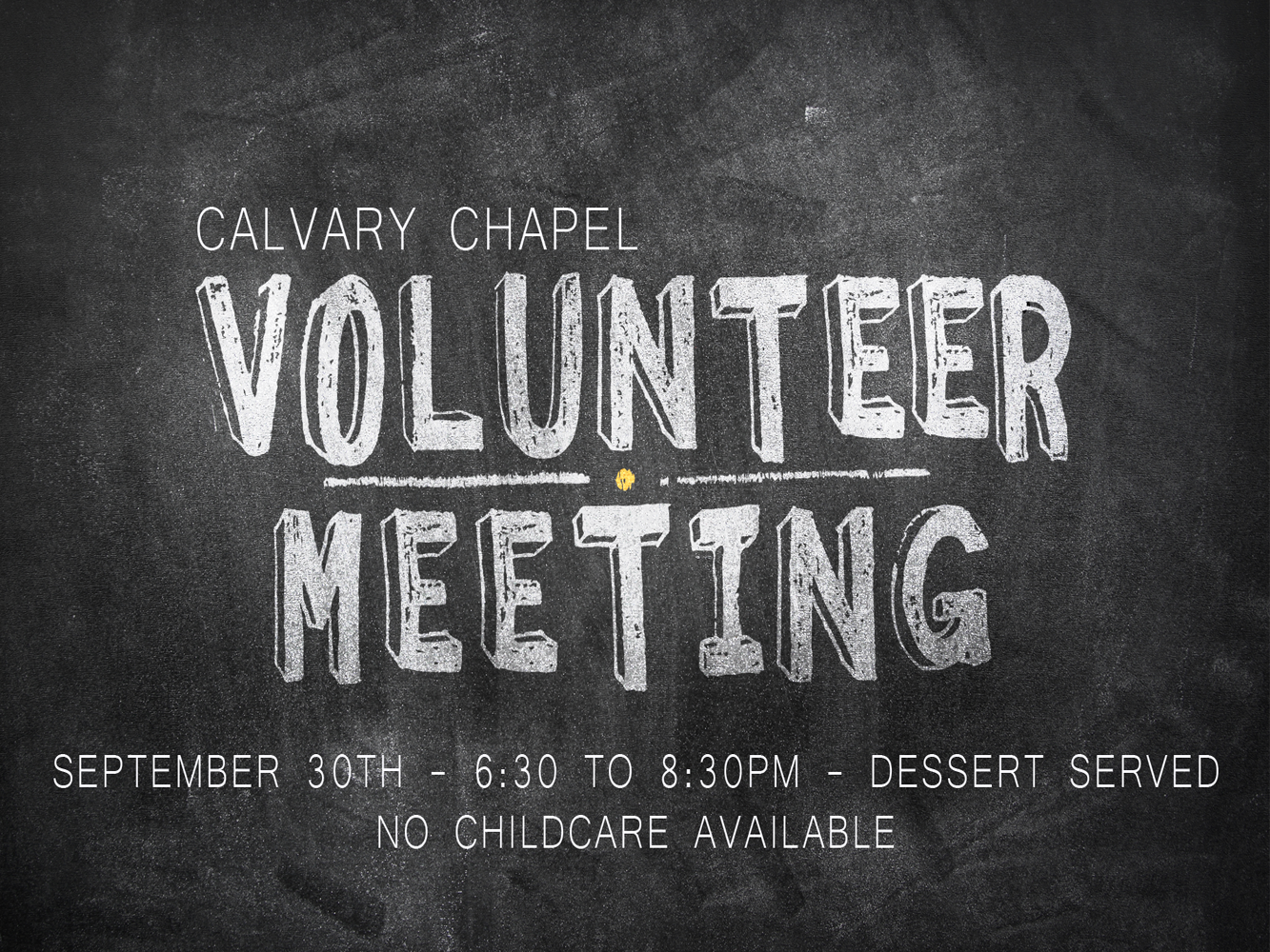 Calvary Volunteer Meeting