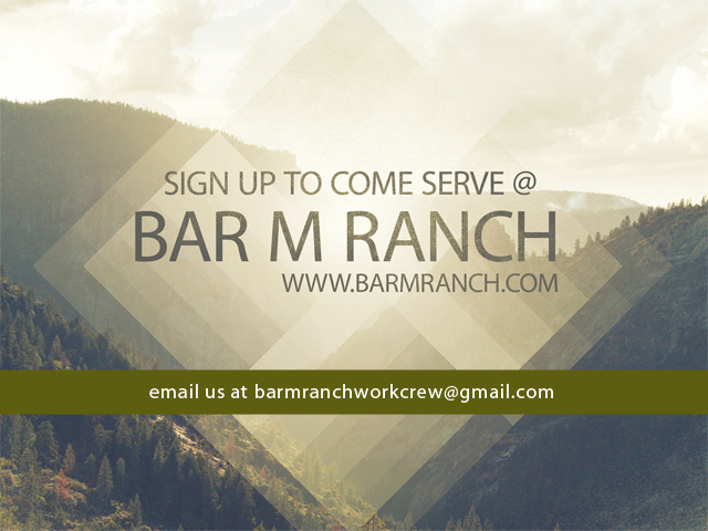 Volunteer at the Bar M Ranch