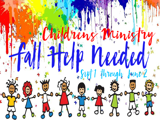 Children's Ministry Fall Help