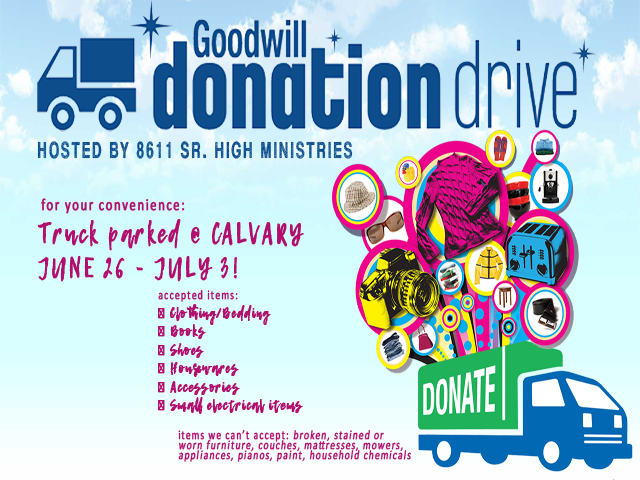 8611 Goodwill Donation Drive